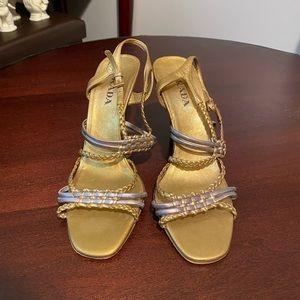 Prada Gold Heels